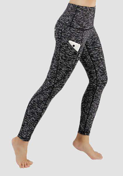 Pantalon de yoga de poche taille haute-Long Leggings-2UBest.com-Space Black-S-Long-2UBest.com
