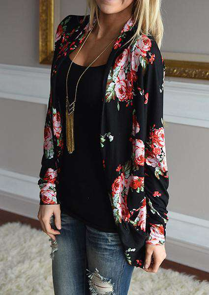 Cotton Printed Flower Blouse
