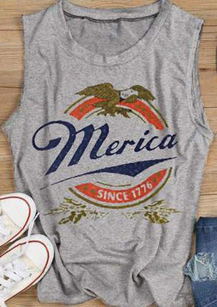 Merica Dahil ang 1776 Letter Print Tank