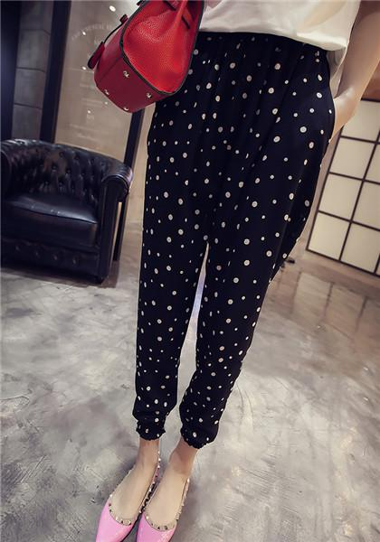 Bohemia Style Dot Pattern Casual Beach Pant