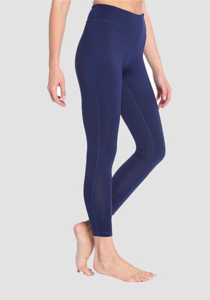 Skinny Fitness Leggings mit Tasche am Bund-Lange Leggings-2UBest.com-Deep Blue-XXL-2UBest.com