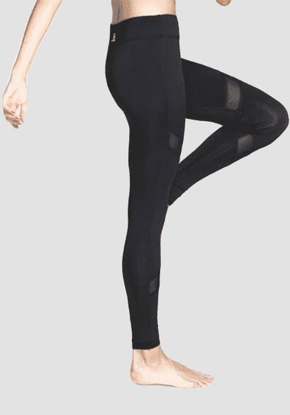 High Waist Mesh Yoga Pants-Mesh Leggings-2UBest.com-Black-XL-2UBest.com