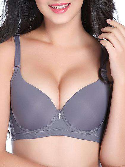3 / 4 Plus Size Bare-faced Solid Bras