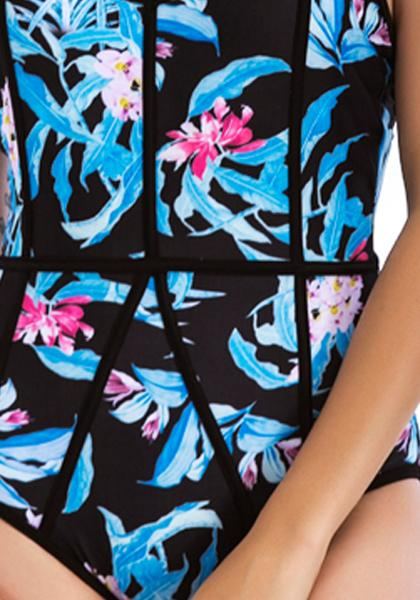 Digital Printing One-piece Swimsuit