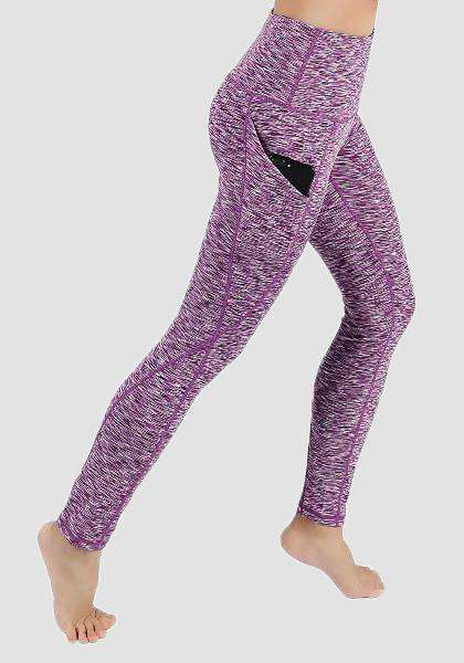 Pantalones de yoga de cintura alta bolsillo-Leggings largos-2ubest.com-Purple-S-Long-2UBest.com