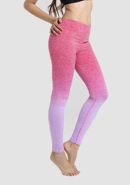 Gradiente Freeskin Workout Sports Yoga Calças Longas Leggings-2ubest.com-Red-S-2UBest.com