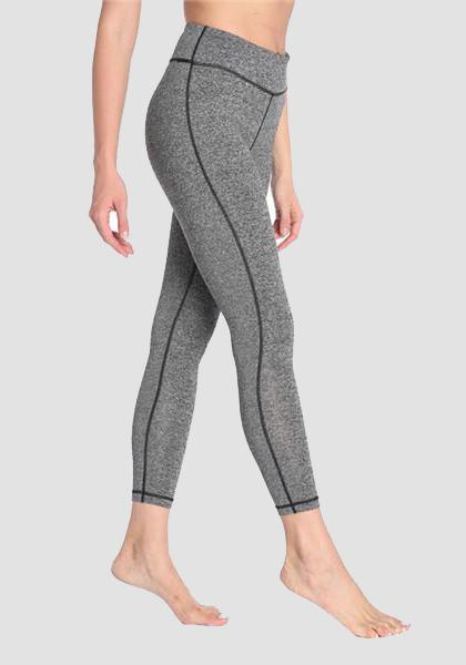 Leotardos ajustados de fitness con bolsillo en leggings largos de cintura-2UBest.com-Light Gray-XXL-2UBest.com