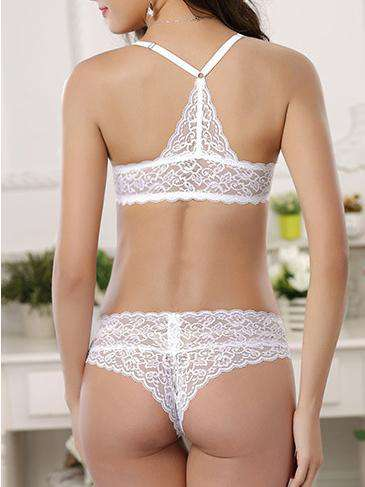 3 / 4 Cup Lace Smooth Cierre frontal Push Up ajustable Conjunto de sujetador sexy