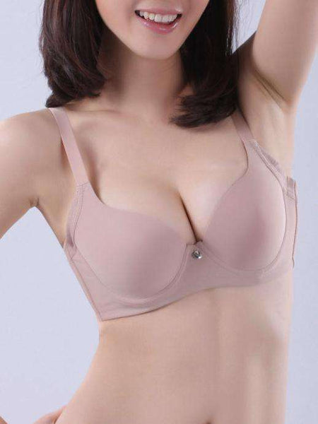3/4 Cup Smooth Push Up Solid Bra