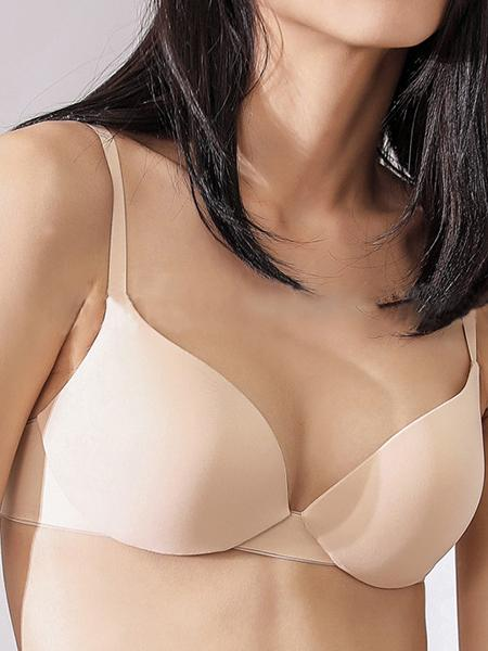 3 / 4 Smooth Push Up Sexy Solid Bra