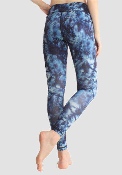 High Waist Printed Yoga Pants With Pocket On Waistband-Long Leggings-2UBest.com-2UBest.com