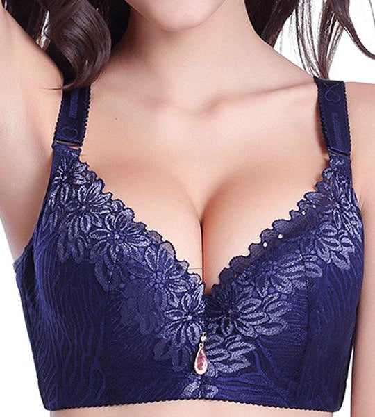 Без проволоки Сильный Push-Up Bra Plus-Sexy Bra-2ubest.com-2UBest.com
