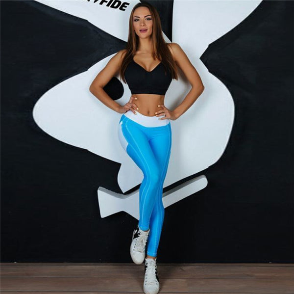 High Waist Heart Shape Booty Legging With Pocket-Long Leggings-2UBest.com-Blue-XL-2UBest.com