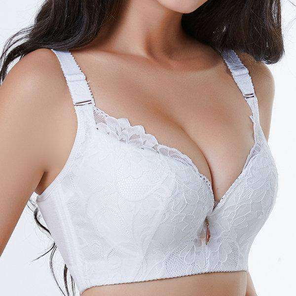 Lace-Trim Printed Adjustable Bras-Sexy Bra-2ubest.com-2UBest.com