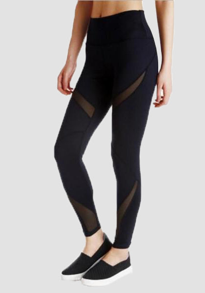 High Waist Stretchy Mesh Yoga Pants-Mesh Leggings-2UBest.com-2UBest.com