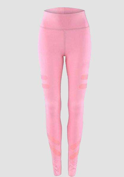 Mulheres de Coxa de Fitness flexível cintura alta Yoga Legging Pants-Long Leggings-2UBest.com-Pink-XL-2UBest.com