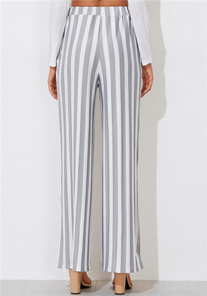 Striped Wide Leg Tailored Pants