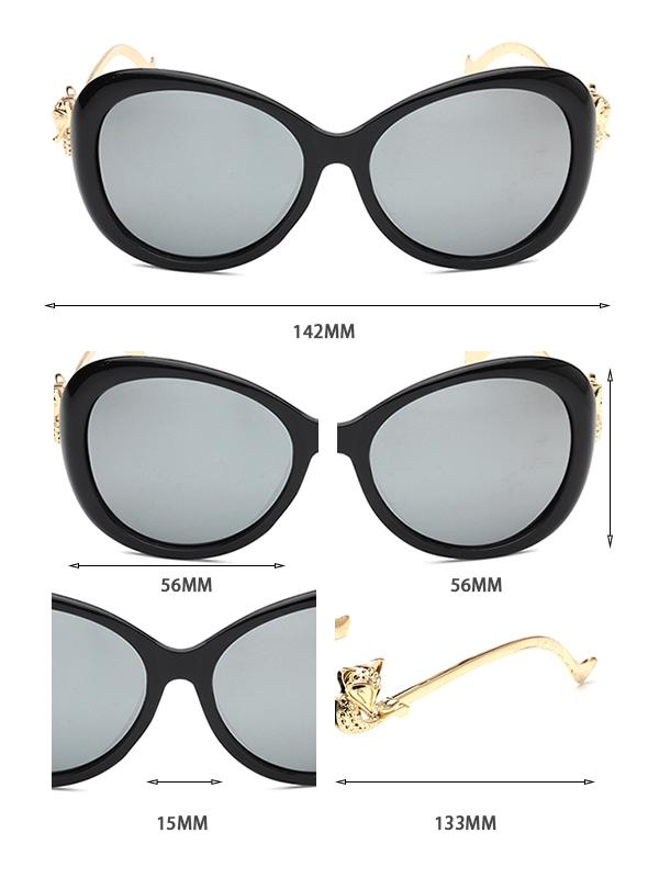 Reflective Lens Cat Eye PC Sunglasses