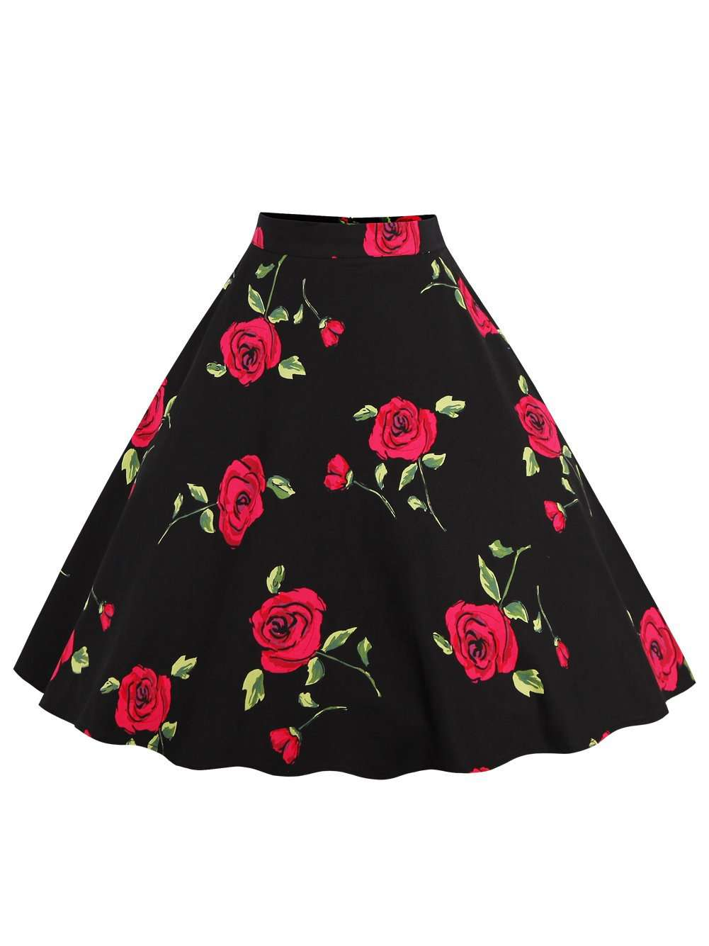 Printed Retro Half Skirt