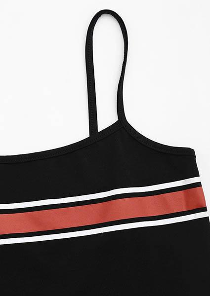 All Match Stripe Crop Tops