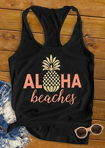 Canotta Aloha Beaches Pineapple Racerback