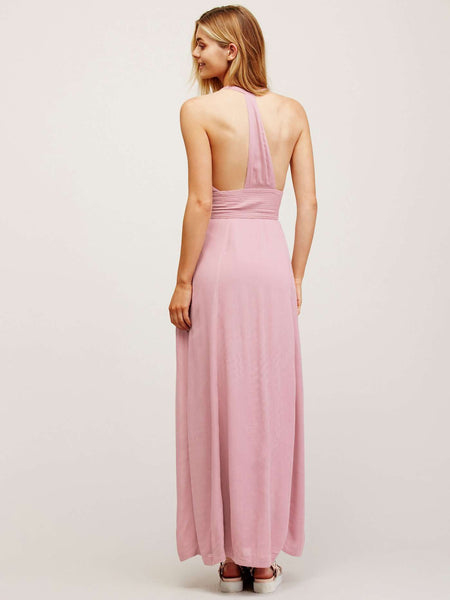 Backless V-neck Sexy Cotton Beach Dress