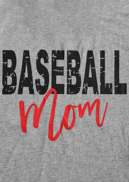 Baseball Mom O-Neck camiseta