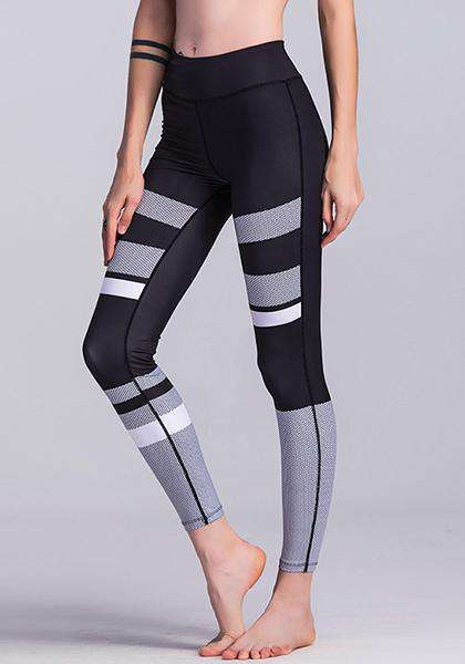 Black & White 3D Printed Workout Yoga Leggings