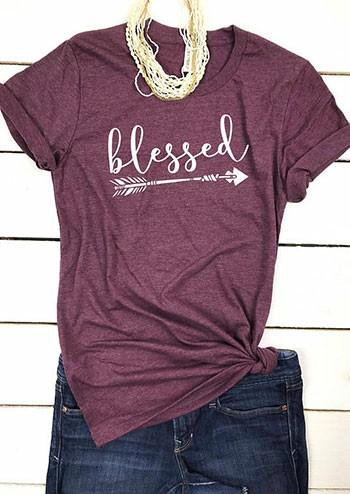 T-Shirt a maniche corte stampata di Blessed Arrow