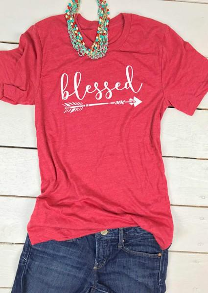 Blessed Arrow T-Shirt de manga curta impressa
