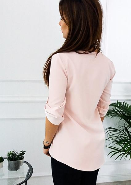 Blouse With A Zip At The Neckline