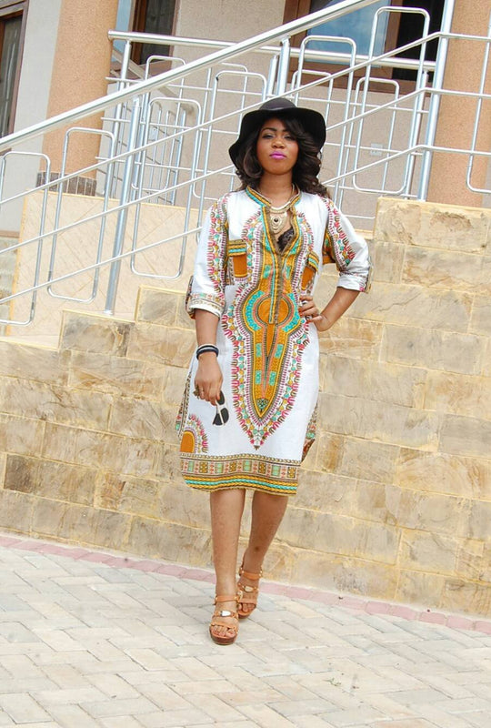 Bohemian Half Sleeve Dress
