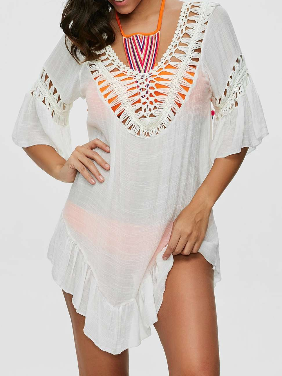 Bohemian Halter V-Neck Dress