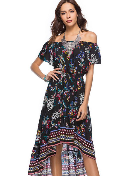 Bohemian Off Shoulder Dress