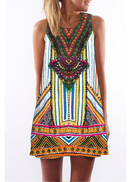 Bohemian Printed Loose Dress