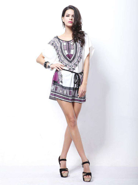 Bohemian Printed Mini Skirt