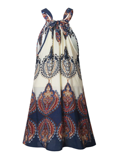 Bohemian Printed Slip Loose Dress