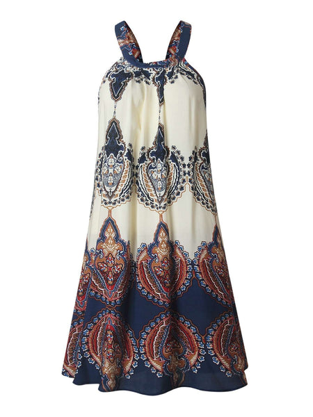 Bohemian Impresso Slip Loose Dress