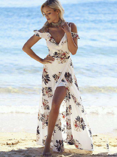 Bohemian Slip V-Neck Dress