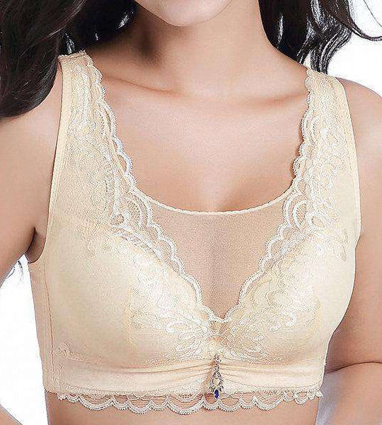 Breathable Embroidered Full Busted Adjustable Cami Bras