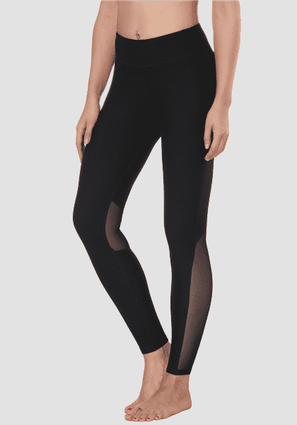 Ang Breathable Stitching Net Yoga Pants
