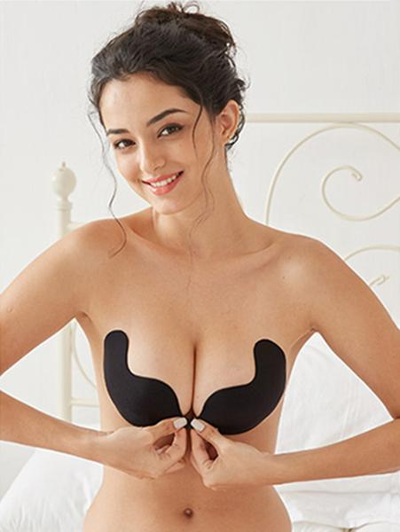 ก๋วยเตี๋ยว Mango Shape Invisible Backless Adhesive Push Up Bra