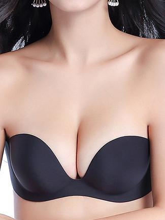 Reggiseno sexy push-up invisibile senza spalline