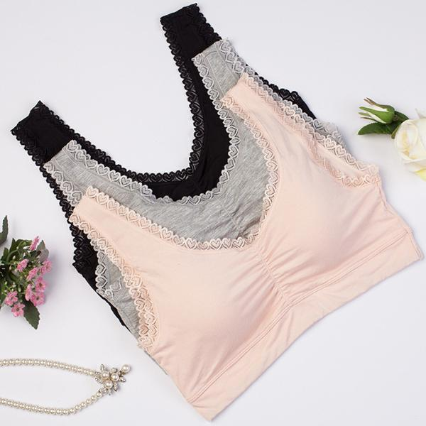 Wireless Comfortable Lace Border Bra