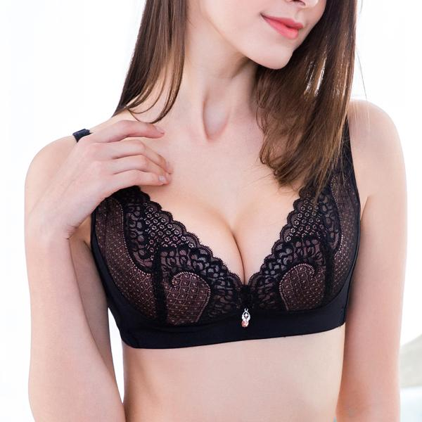Ultra Thin Crystal Cup Lace Bra