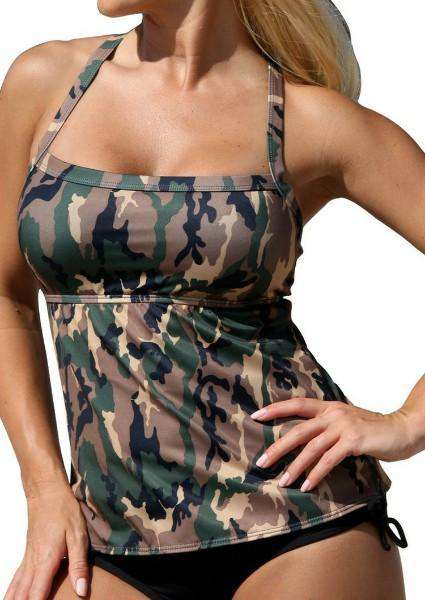 Camouflage in Sexy Tankini