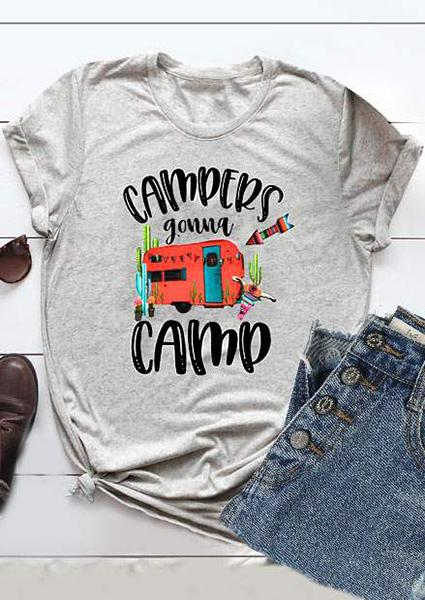 Campers Gonna Camp Car tee