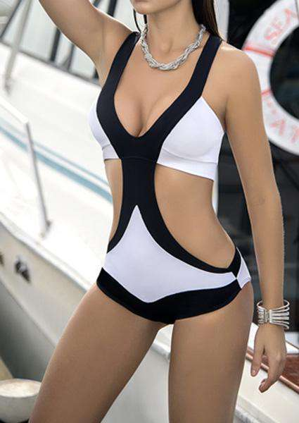 Cross One-Piece Swimsuit
