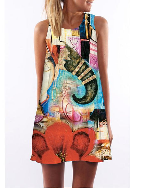 Digital Printed Loose Dress