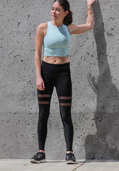 Double Ring Sexy Mesh Legging